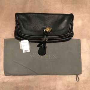 Alexander McQueen Black Leather Purse